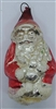 Early Antique Mercury Glass Santa Ornament - Red Coat - German