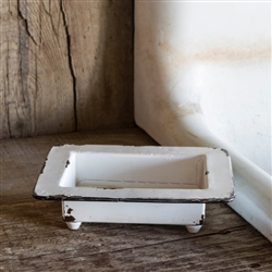 Rustic Painted Metal Soap Dish by Park Hill Collection