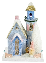 Frosted Blue Abode Christmas House by Cody Foster
