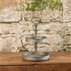 2 Tier Round Stand with Spindle Handle by Ragon House