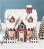 Vintage Putz Large Christmas House Red by Bethany Lowe