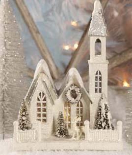 Cardboard Church | Christmas Church | Bethany Lowe