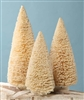Ivory Flocked Bottle Brush Trees set of 3 by Bethany Lowe
