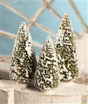 Olive Green Bottle Brush Trees set of 3 by Bethany Lowe