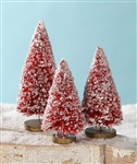 Christmas Red Bottle Brush Trees by Bethany Lowe