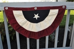 "30"" Patriotic Flag Bunting Red White and Blue by Pine Creek"