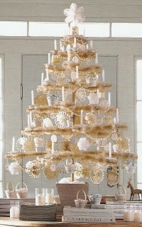 martha stewart snow feather tree by dennis bauer - Feather Christmas Trees
