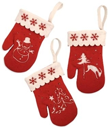 Winter Mitten Ornament by Bethany Lowe