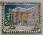 North Portico of the White House Postcard Patriotic Ornament