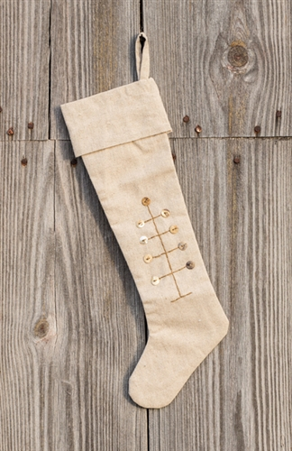 button feather tree christmas stocking by park designs - Primitive Christmas Stockings