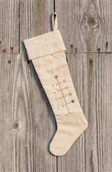 Button Feather Tree Christmas Stocking by Park Designs