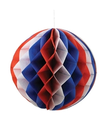Americana Tissue Honeycomb Balls set of 3 for Bethany Lowe