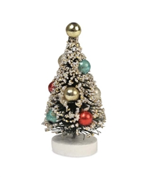 "Miniature Bottle Brush trees 2 1/2"" set of 6 by Bethany Lowe"