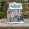Saltbox Glitter Christmas House by Ragon House