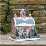 Red Dutch Style Cardboard Christmas Barn by Ragon House