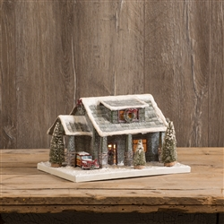 Christmas Bungalow House LIghted by Ragon House