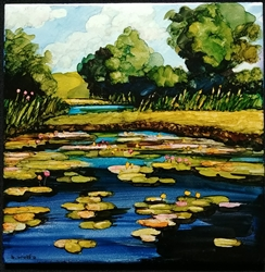 Porter's Pond Inked Tile by Bonnie Wolfe