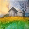 Weathered Barn Inked Tile by Bonnie Wolfe