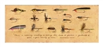 Fishing Fly Lures with Quote Framed Print by Bonnie Wolfe