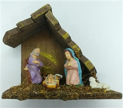 Christmas Nativity - Figurines and stable