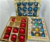 Vintage Christmas Ball Ornaments - Asst Solid Colors 32 pcs