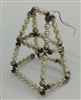 Vintage Japanese Beaded Ornament - Geometric Shape - 1940s