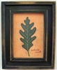 White Oak Leaf Framed Print by Bonnie Wolfe