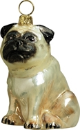 Pug Ornament by Joy to the World
