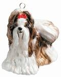 Shih Tzu Dog Ornament Brown & White by Joy to the World